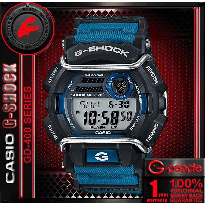 CASIO G-SHOCK GD-400-2DR   GD-400-2D   GD-400-2   GD-400 WATCH 100%  ORIGINAL  837e34e9ea