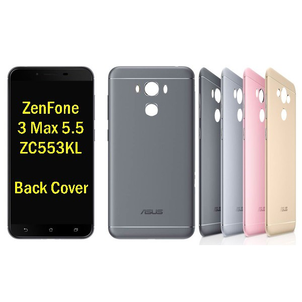 watch d4ca7 976ab Original Asus ZenFone 3 Max 5.5 ZC553KL X00DD Back Cover Battery Door with  Butto