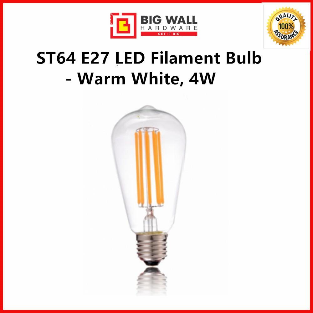 ST64 E27 LED Filament Bulb - Warm White, 4W