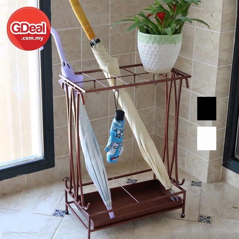 GDeal European Style Elegant Iron Umbrella Stand Rack Rak Menyimpan Payung رق مڽيمڤن ڤايوڠ