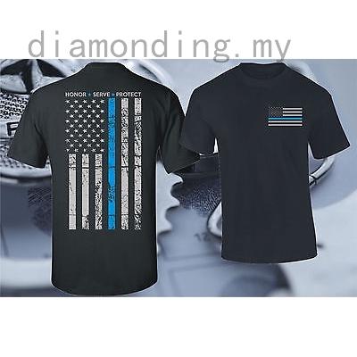 Police Lives Matter Thin Blue Line Flag Printed Baby Bodysuit Long Sleeve Romper Black