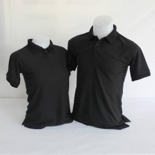 เสื้อโปโล สีขาว-ดำSize S-6XL ชาย-หญิง ผ้