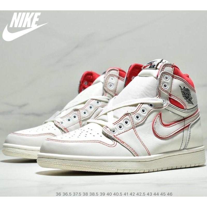 cute cheap more photos most popular Air Jordan 1 Retro Phantom Gym Red OG AJ1 Shoes | Shopee Malaysia