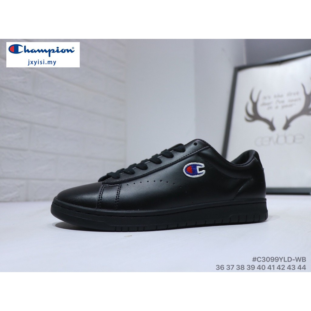 34dff30e05 Champion Men Women leather black sneakers Flatshoes casual Classic fashion  shoes