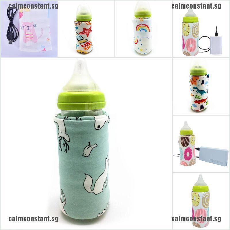 Portable Bottle Warmer Heater Travel Baby Kids Milk Water USB Cover Pouch SoftVQ