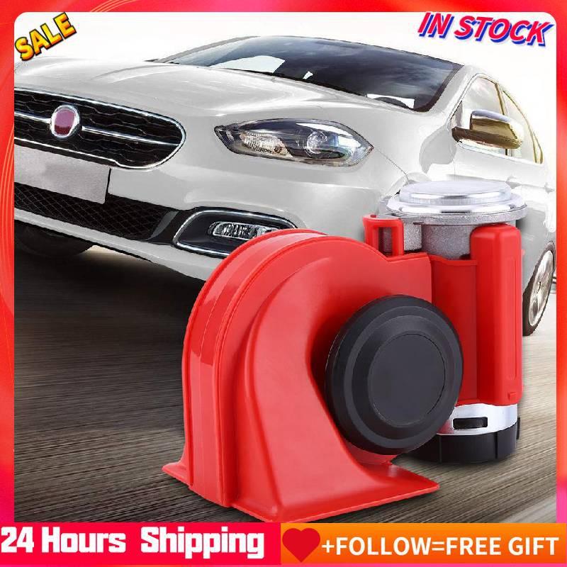 12V Compact Car Snail Dual Tone Electric Pump Siren Loud Air Horn with Relay