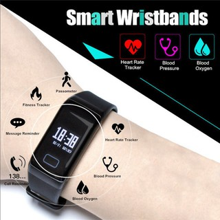 Smart Watch Heart Rate Blood Pressure Monitor Fitness Tracker