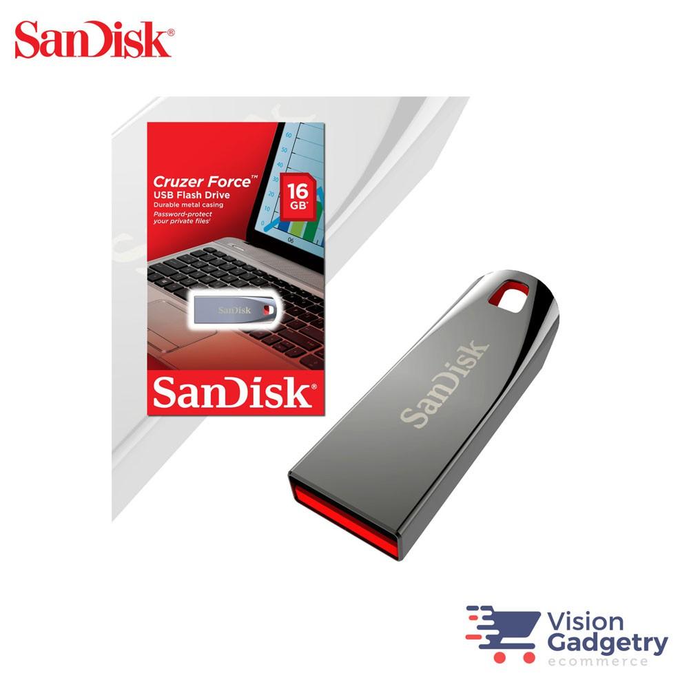 Sandisk Cruzer Force Metal USB Pendrive Thumb Drive CZ71 16GB 32GB 64GB