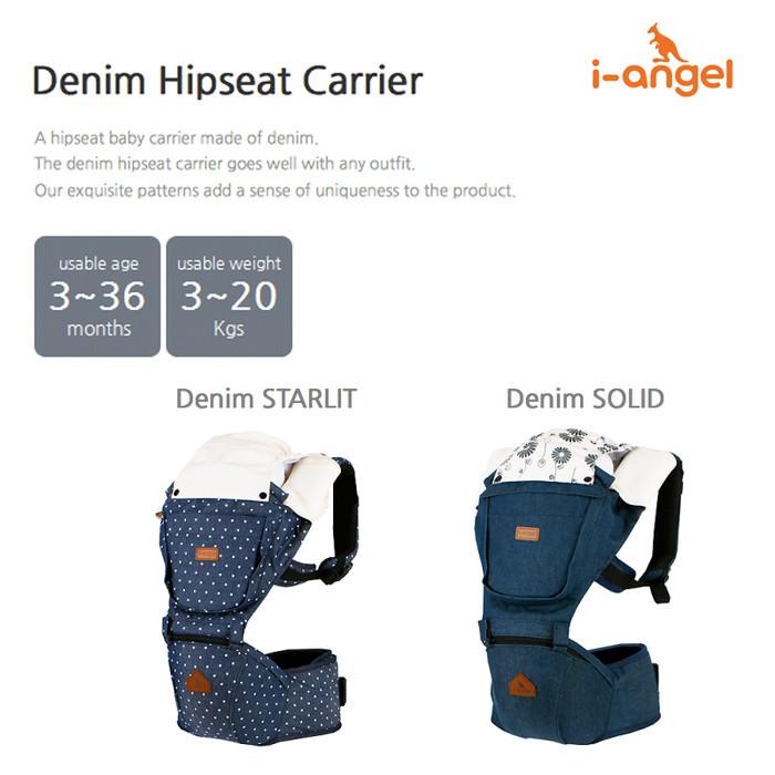 I Angel Denim Hip Seat Carrier