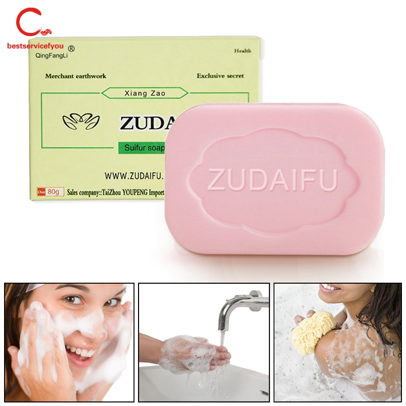 Bath & Shower High Quality 84g Sulphur Soap Dermatitis Fungus Eczema Anti Bacteria Fungus Skin Care Bath Whitening Soaps Products Hot Sale