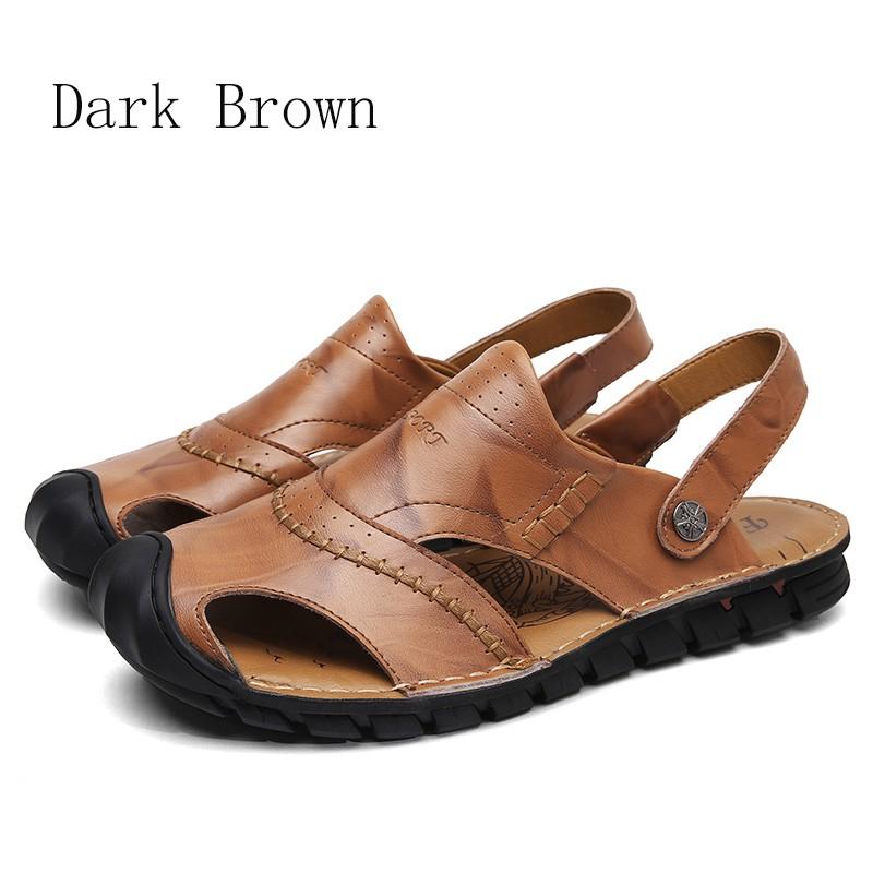 75db65b34d2b4 Summer Men's Sandals Leather Sandal Outdoor Beach Shoes