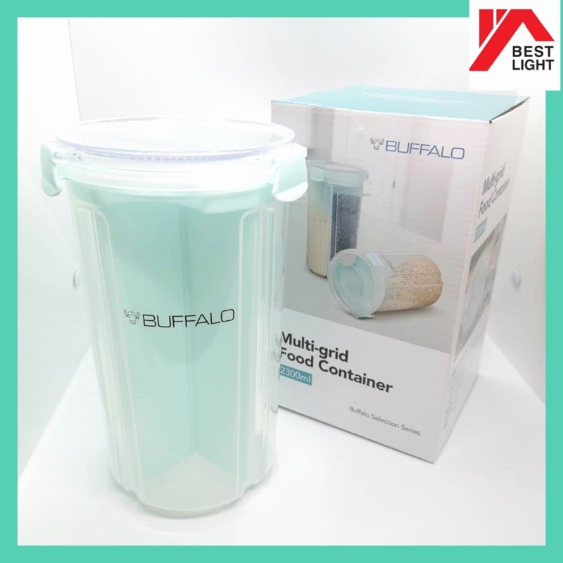 BUFFALO MULTI-GRID FOOD CONTAINER 2300ML TUPPERWARE DRY FOOD BISCUITS BEANS PASTA CEREAL NUT GRAIN