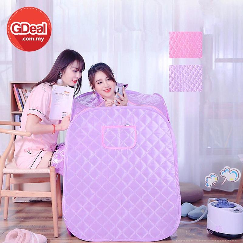 GDeal Portable Steam Home Sauna Set Body Massage Women Household Personal Sweat Box Kotak Sauna (Double Use) کوتق ساونا