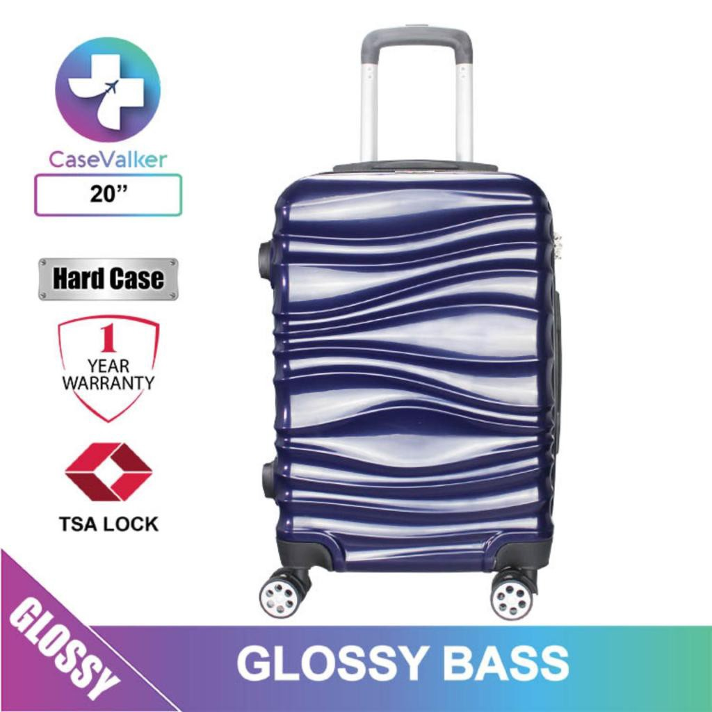 "Case Valker Glossy Bass ABS + PC TSA Lock 2 Luggage Bag (24"" / 20"")"