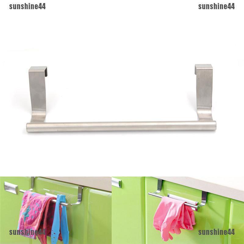 New Stainless Steel Kitchen Bathroom Hook Door Towel Holder Cupboard Rack Hanger
