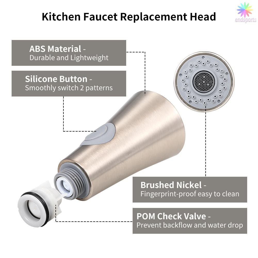 Kitchen Pull-Out Faucet Spray nozzle Head G1//2 Replacement Chrome ABS Silver US