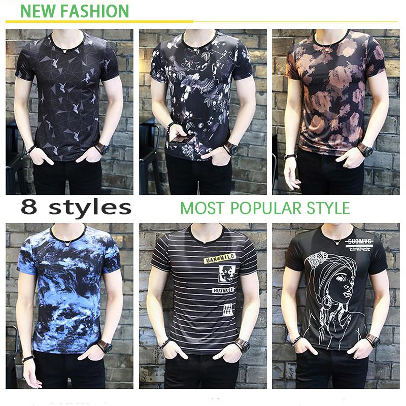 a2ae1233 Buy T-shirts & Singlets Online - Men Clothes | Shopee Malaysia