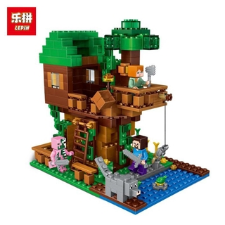 Lego Lepin 18009 Lego Compatible Minecraft The Jungle Tree House Model Toys