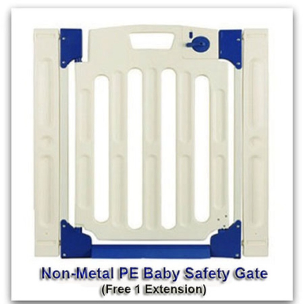 Baby Non Metal Pe Door Safety Gate Free 1pc Extension Shopee
