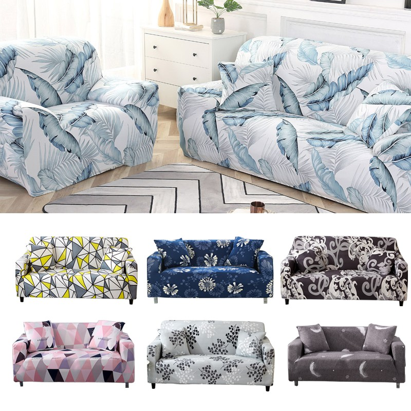 1 2 3 4 Seat Sofa Cover Spandex For Living Room Slipcovers Fully