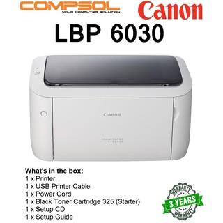 Canon imageCLASS LBP6030 Single Function Mono Laser Printer | Shopee