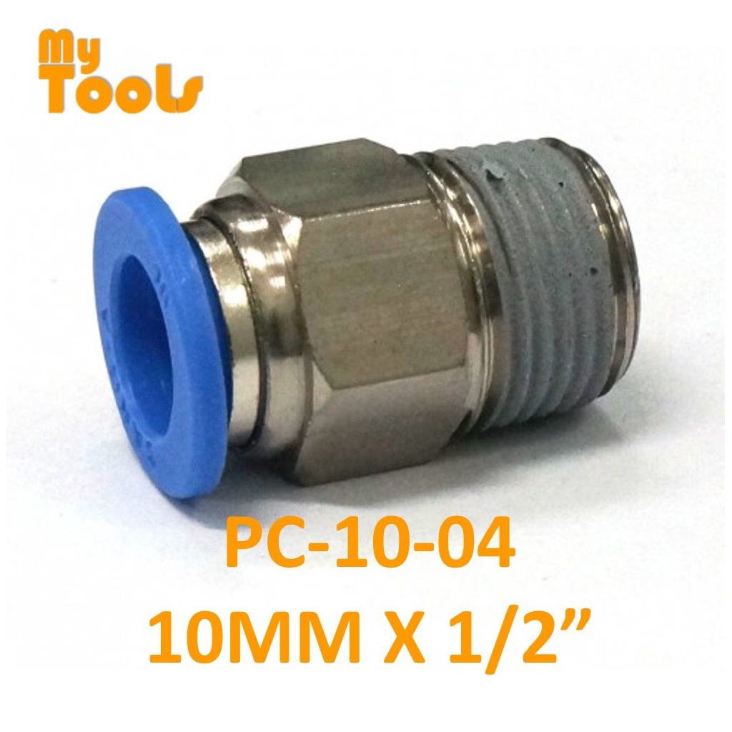 10mm M Thread 12mm Push in Joint Pneumatic Connector Quick Fitting