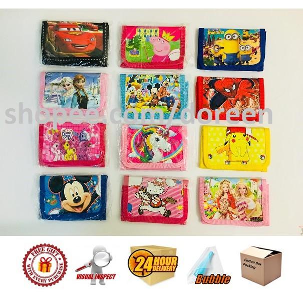Girls Coin Purse Wallet Frozen/ Hello Kitty/ Peppa/ Little Pony/ Barbie