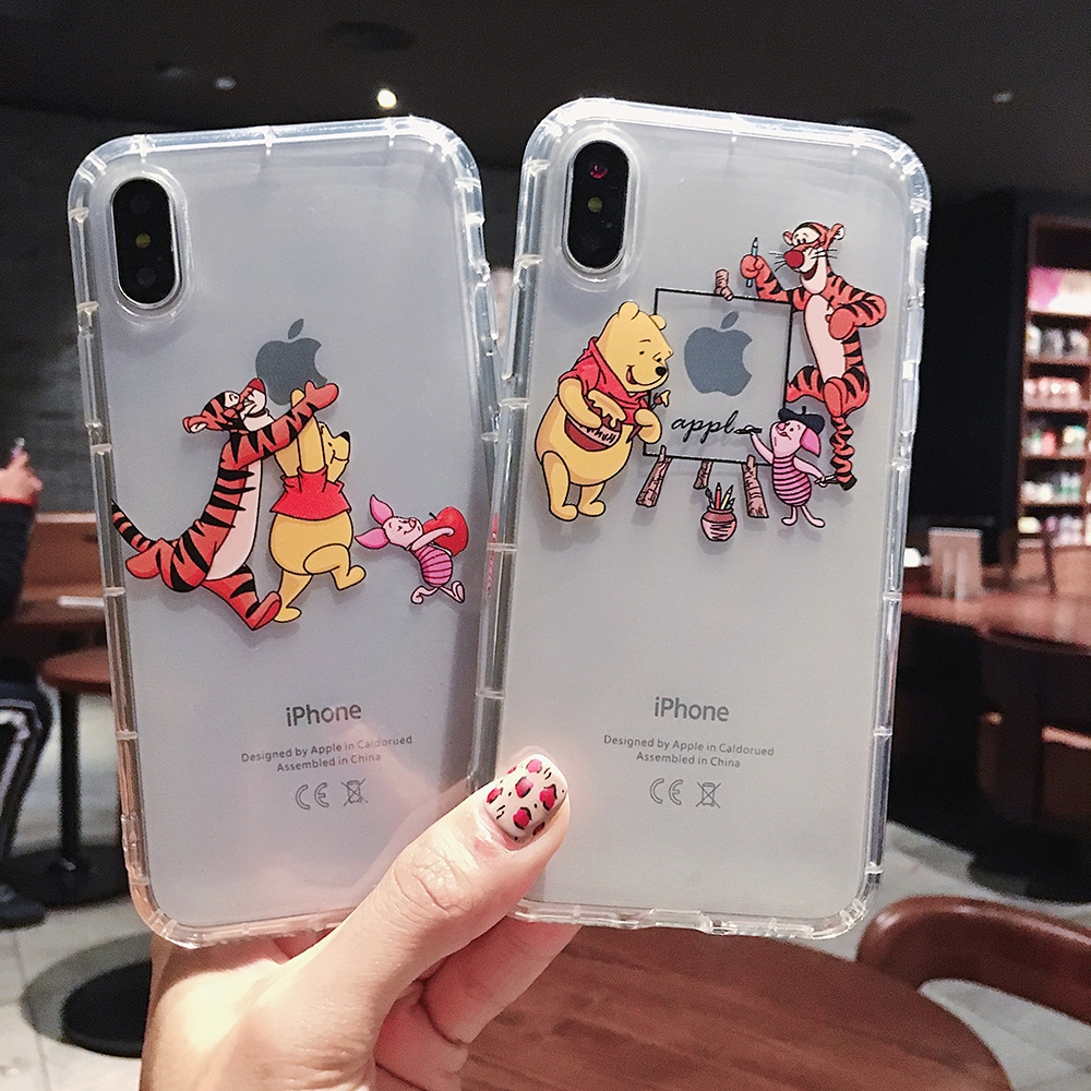 5e7f412ee5 Cartoon Small Bear Cartoon Iphone soft cover Iphone 6 6s 7 8 Plus X XS  XSMAX XR | Shopee Malaysia