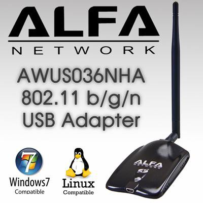 ALFA AWUS036NHA Atheros AR9271 Wireless B/G/N USB Adapter