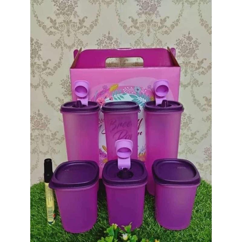 Tupperware Breezy Pour Set (Purple)/PWP Mini Stor N Pour (2) 250ml
