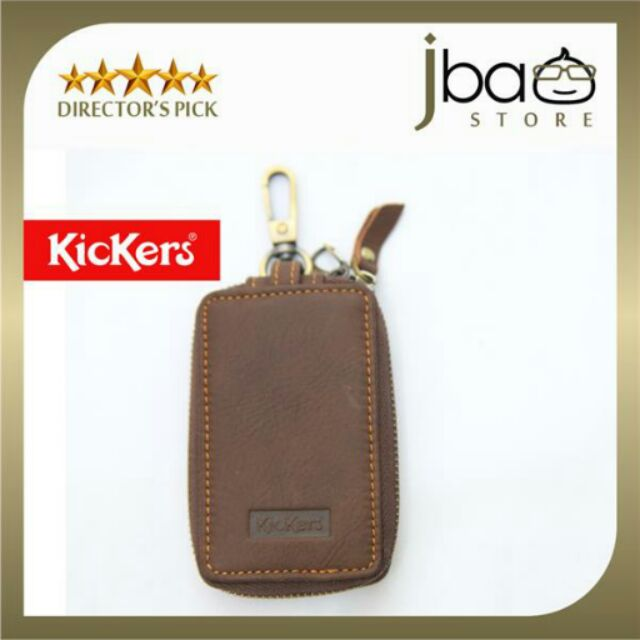 Kickers Leather Keys Car Remote Zip Pouch Holder Key Case C87104-A father day