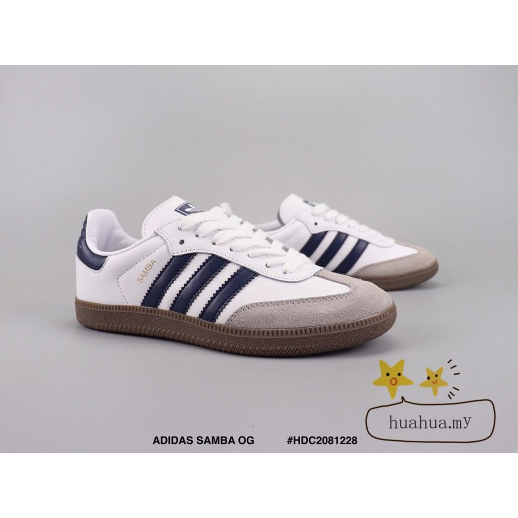 430ae1594a9 🌟Ready Stock🌟 ADIDAS SAMBA OG Retro casual shoes samba replica blue &white