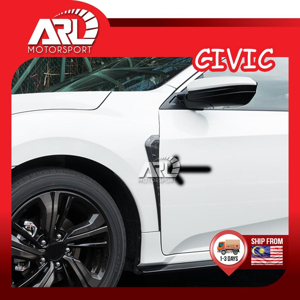 Honda Civic X (2016-2021) FC Fender Lining Cover Carbon Fiber Design Type B Car Auto Acccessories ARL Motorsport