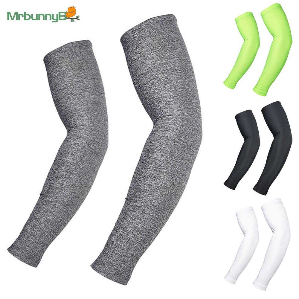 Details about  /Sporting Arm Sleeves Stretch UV Protection Warmer Breathable Polyester