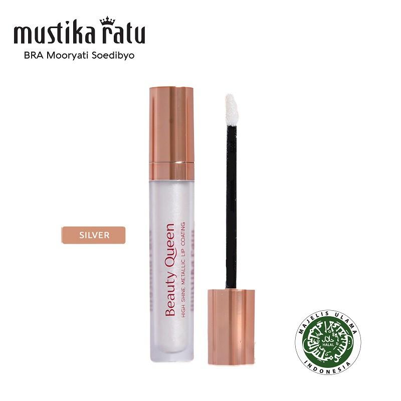 Mustika Ratu Beauty Queen High Shine Metallic Lip Coating Silver 5.5ml