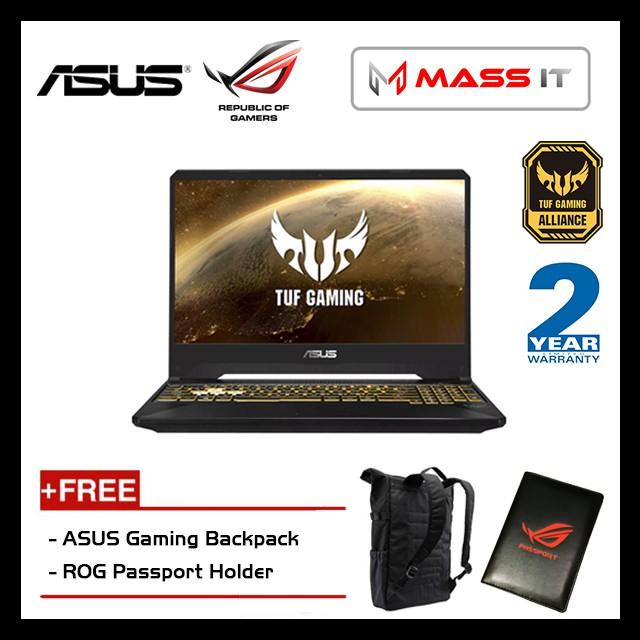 "ASUS FX505G-MBQ498T TUF (i5-8300H/GTX1060 6GD5/4GB D4 2666/512GB M.2 SSD/15.6"" IPS FHD/W10/2YRS) + Bag"