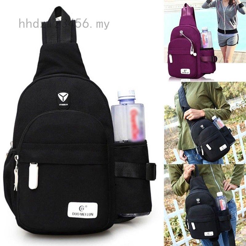 Men Women Nylon Crossbody Shoulder Chest Sport Cycle Sling Bag Travel Backpack