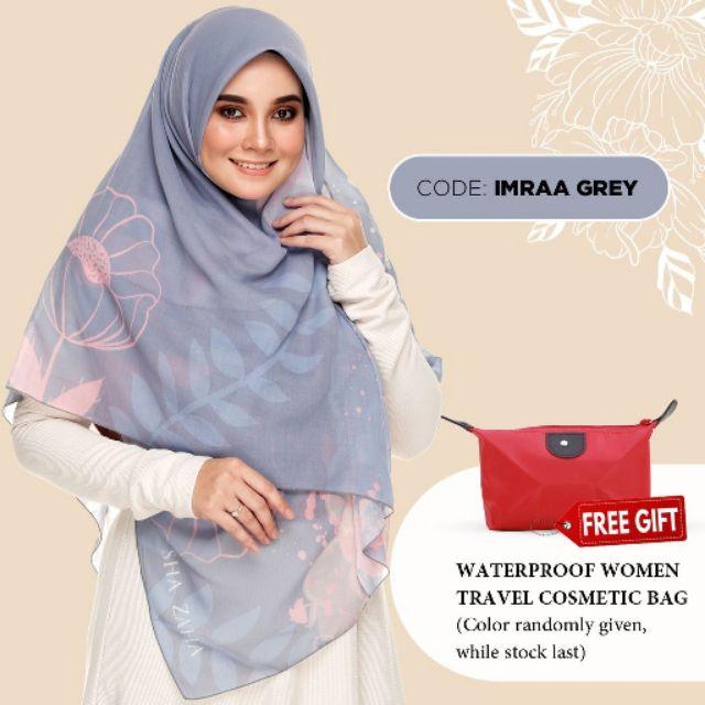 Bawal NUQ by SHAZAHA | Bawal Printed Premium Cotton Voile Bidang 55 | Modern Hijab