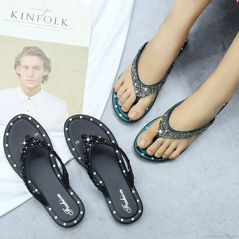 Korean Women Casual Sequin Anti-slip Flat Slipper