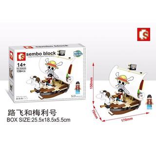 Pirates Wang Lufei golden plums, model ship building blocks toys