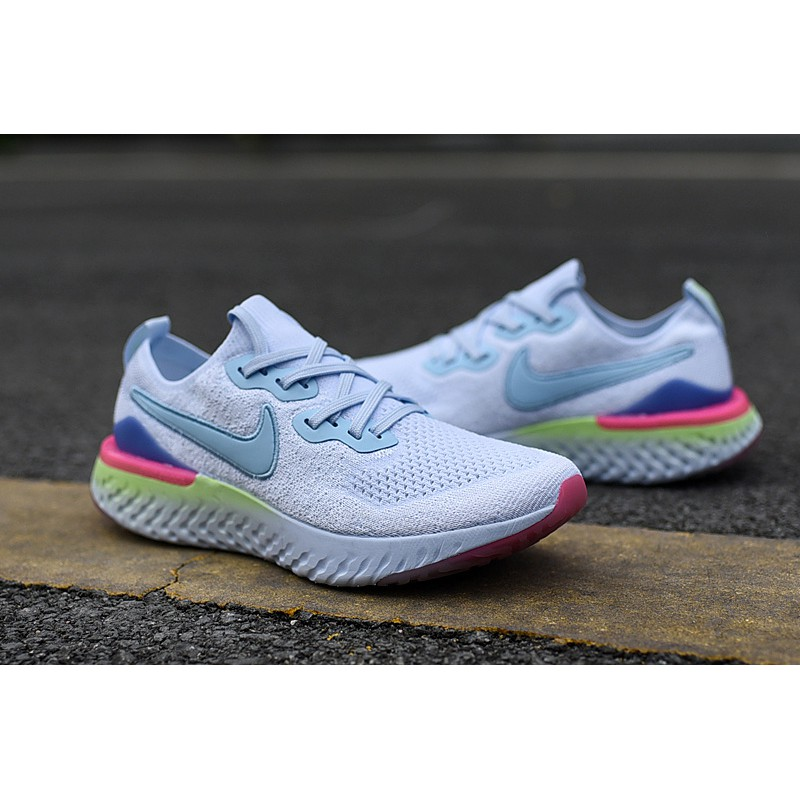 Catena virtuale compagnia  Super high quality】NEWEST ori Nike Epic React Flyknit Running Shoes for Men  and Women 36-45 White Blue ready stock   Shopee Malaysia