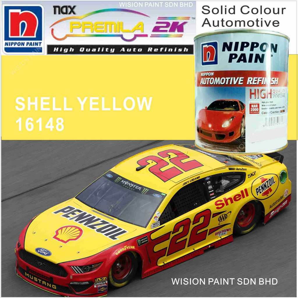 SHELL YELLOW 16148 1L NIPPON AUTOMOTIVE REFINISH NAX PREMILA 7000 2K SYSTEM  CC PRO SERIES SOLID TOPCOATS CAR PAINT