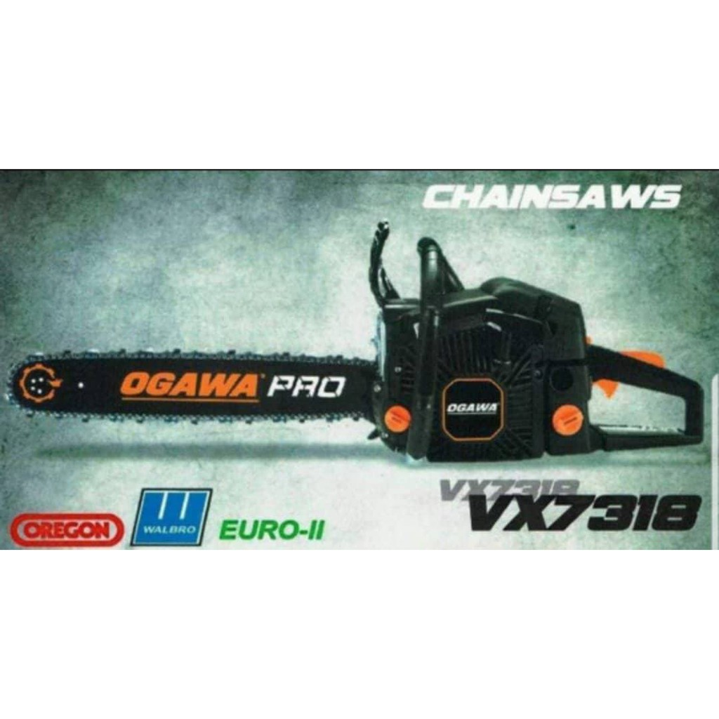 Ogawa PRO Heavy Duty Petrol Gasoline Engine Chainsaw 18