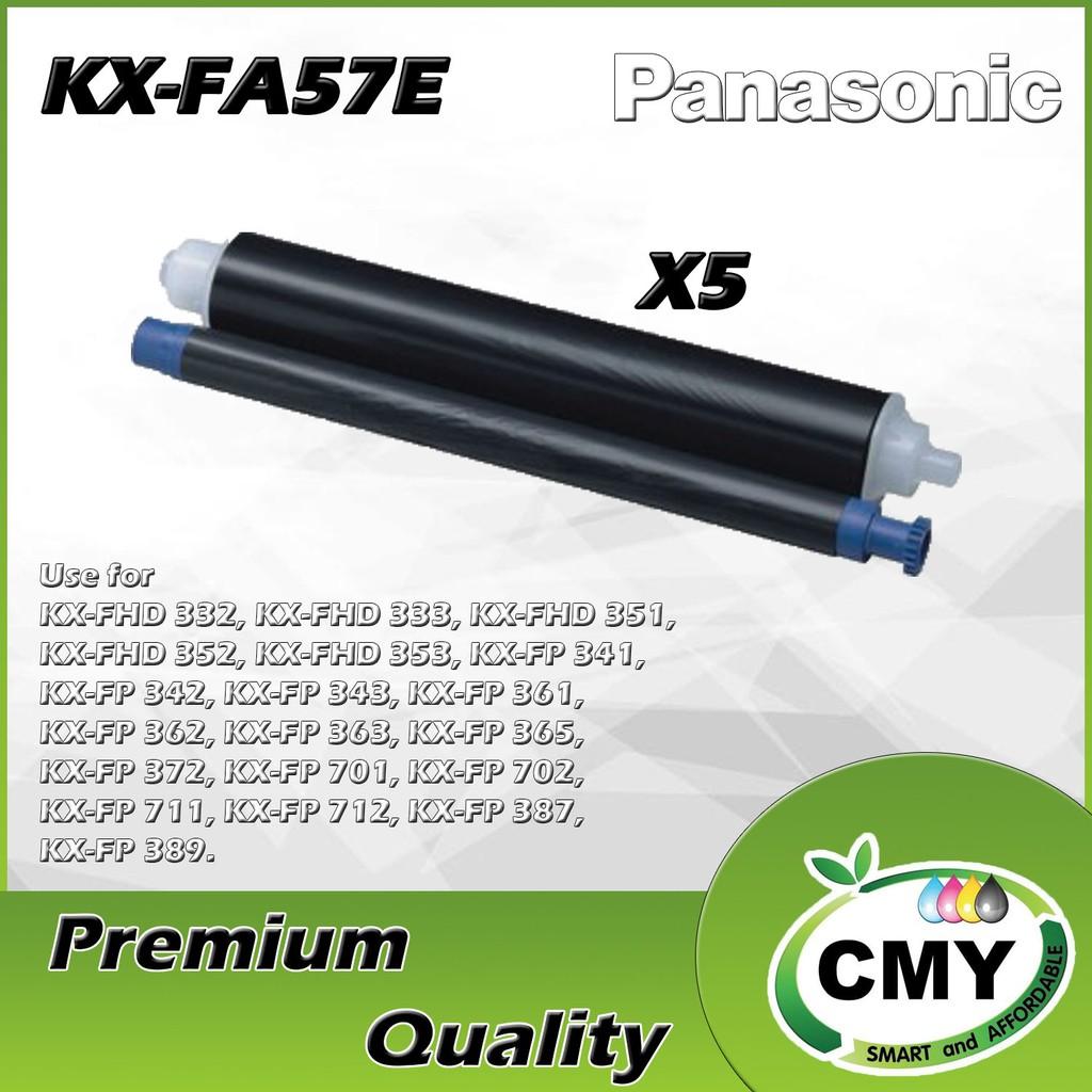 5 Roll Panasonic KX-FA57E Compatible Fax Ink Film KX-FP701 KX-FP363 KX-FP362 KX-FP361 KX-FP343 KX-FP342 KX-FP341