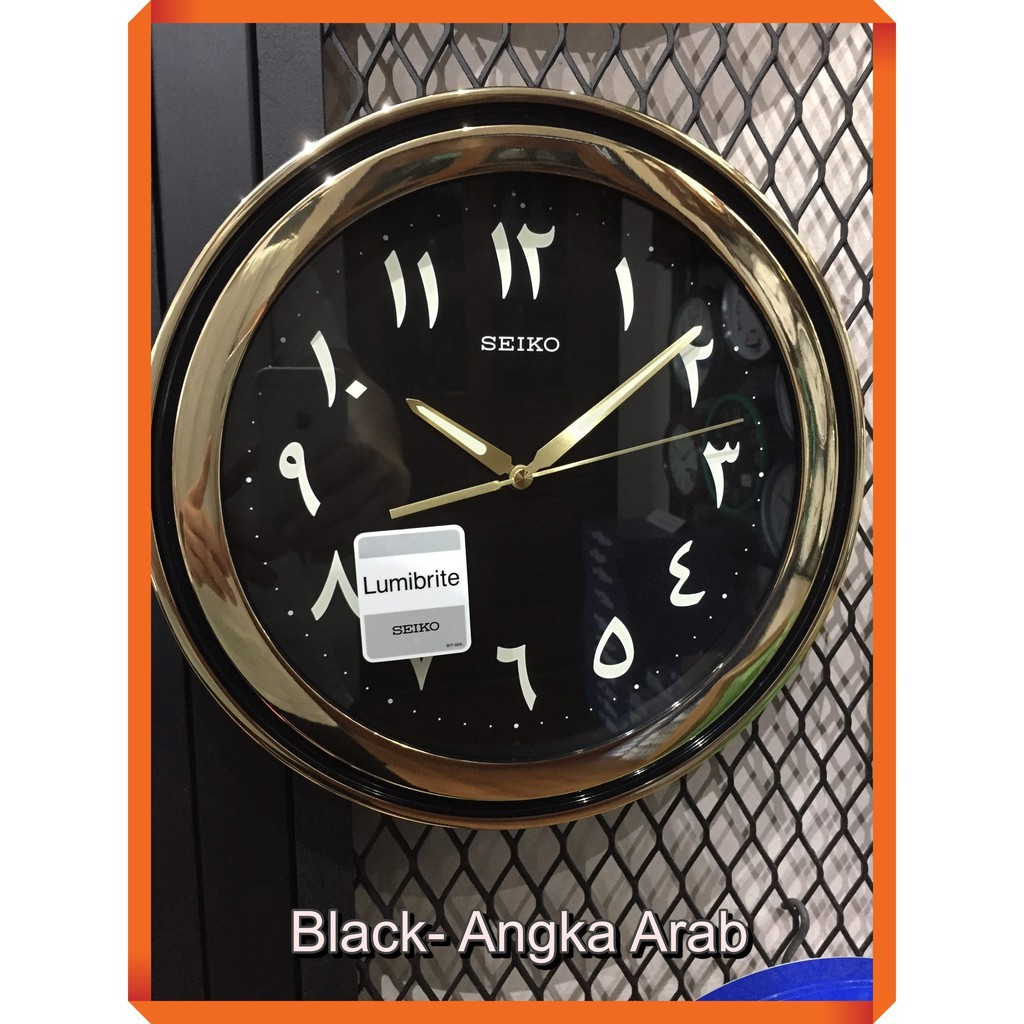 Original Seiko Wall Clock Qxa578 Lumibrite Jam Nombor