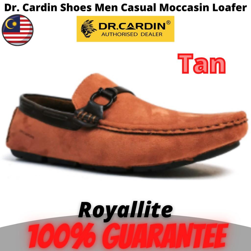 Dr. Cardin Shoes Men Casual Moccasin Loafer (60671) Black & Tan