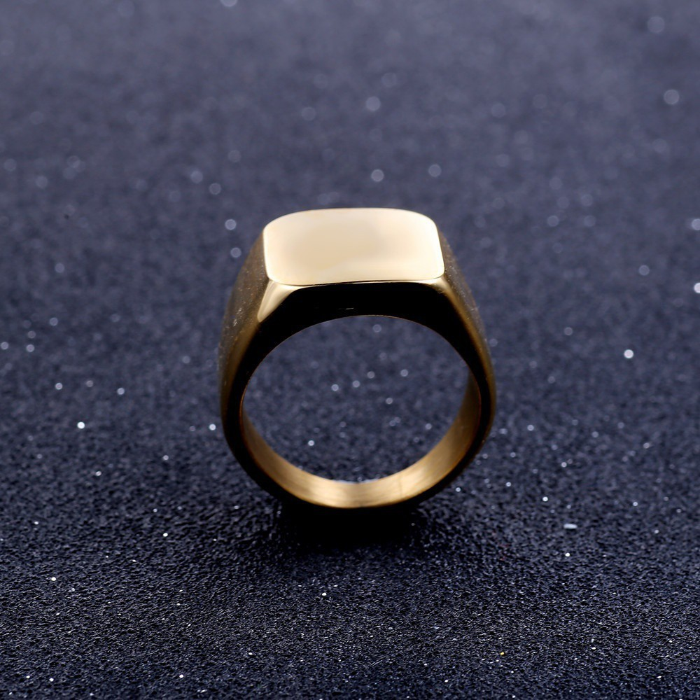 1pc Smooth Twill 316 Stainless Steel Ring Silve plated Jewelry