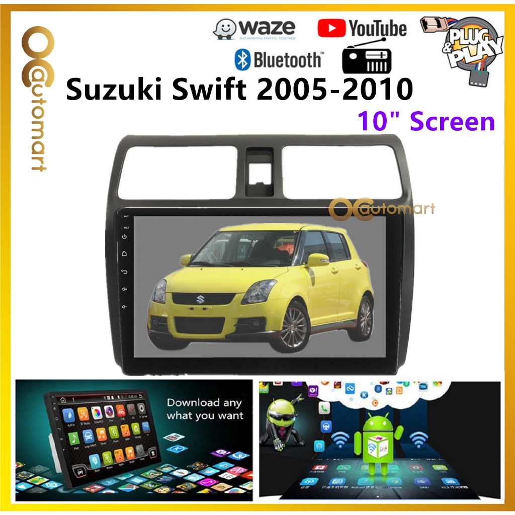 """Suzuki Swift 2005-2011 Big Screen 10"""" Plug and Play OEM Android Player Car Stereo With WIFI Video Player/TouchScreen"""