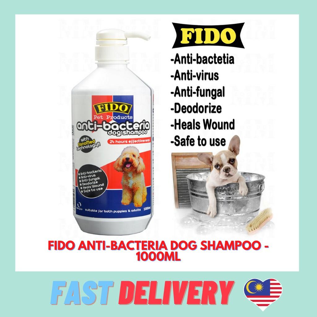 FIDO ANTI-BACTERIA DOG SHAMPOO - 1000ML [WITH NANOMED TECHNOLOGY] - 24 HOURS EFFECTIVENESS