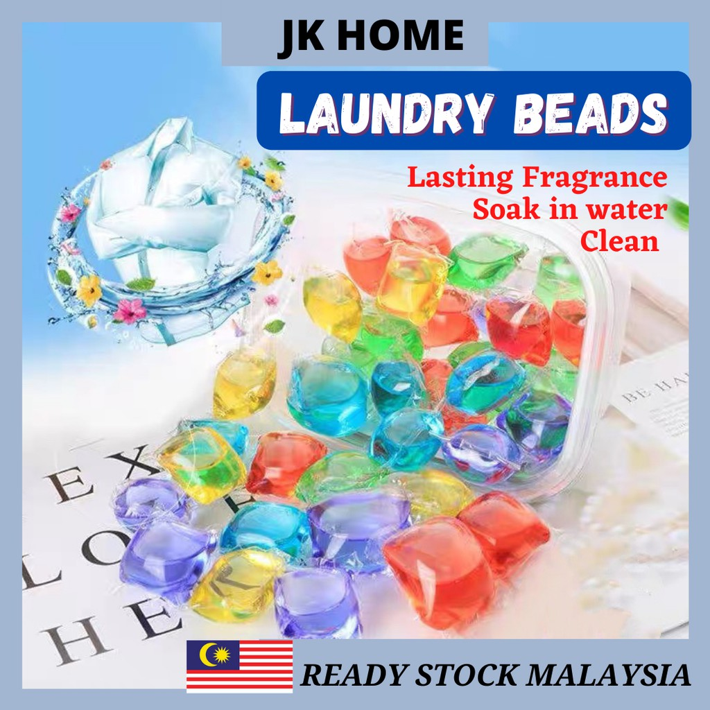 JK Home Laundry Ball Beads Laundry Gel Stains Bead Ball Capsules Travel Washing Liquid Pod Cleaning Condensation